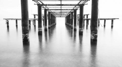 black and white landscape marine emotional