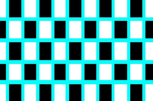 black and white squares pattern