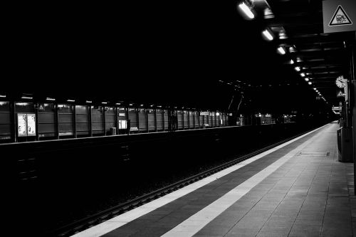 black and white railway station sw