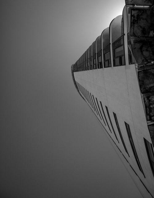 black and white building architecture