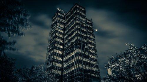 black and white  berlin  skyscraper