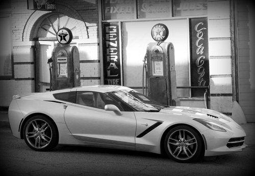 black and white  sports car  car