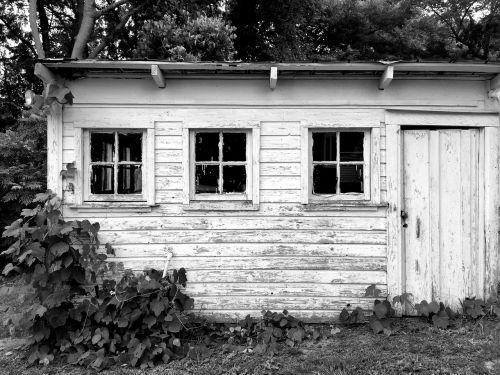 barn hangar black and white