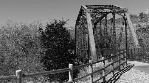 Black And White Iron Horse Bridge