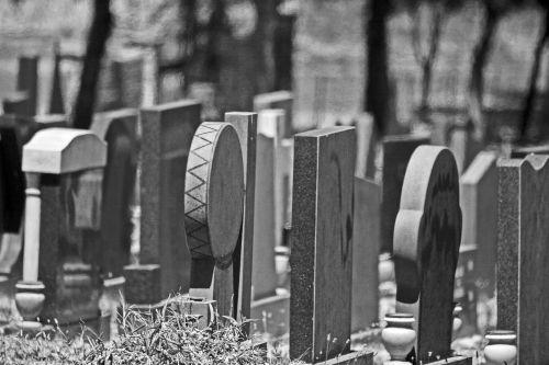 Black And White Tombstones