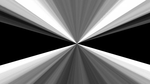Black And White Triangles Abstract