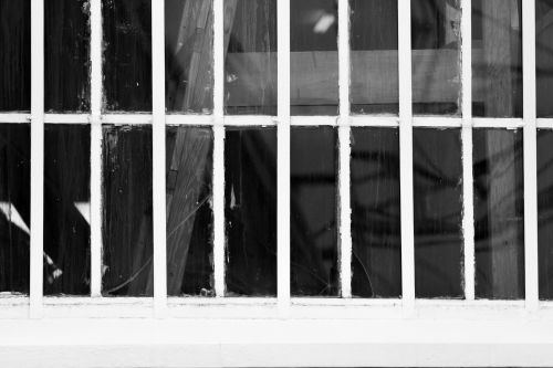 Black And White Window And Frame