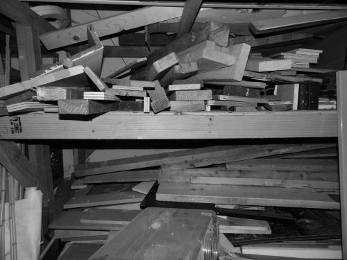 Black And White Wood Planks