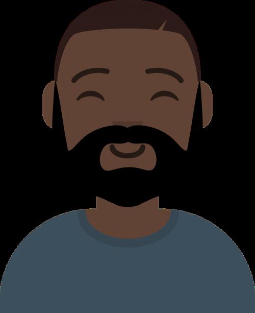black avatar cute cheerful