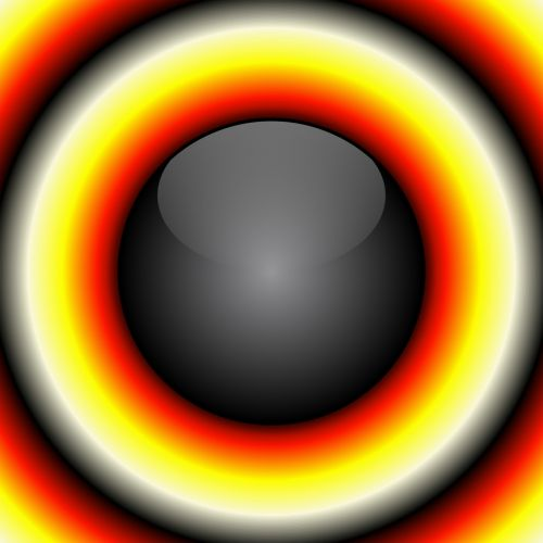 Black Ball With Color Rings