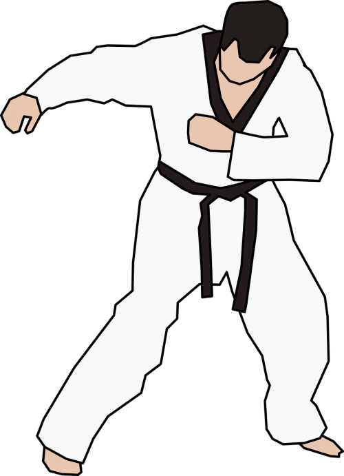black belt exercise karate