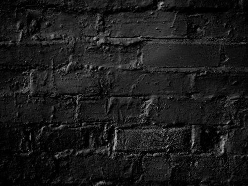 Black Bricks Background
