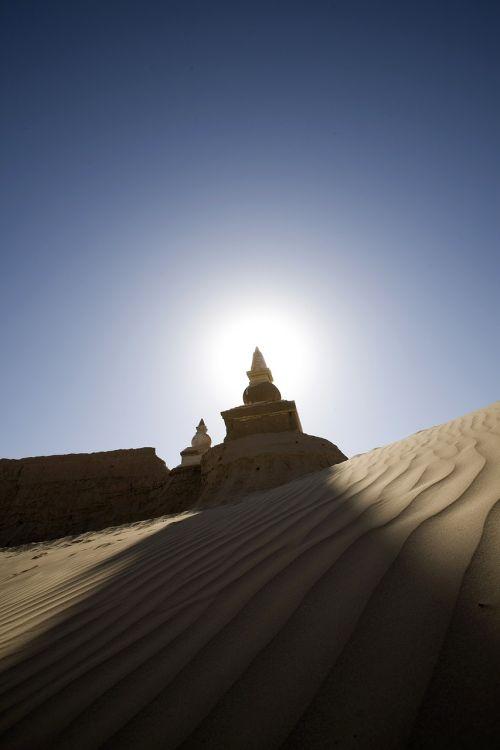 black city stupa buddha