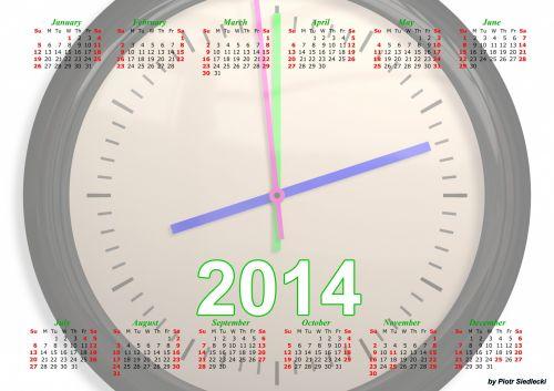 Black Clock Calendar 2014