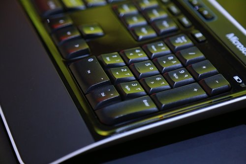black color computer keyboard  abstract  business finance and industry