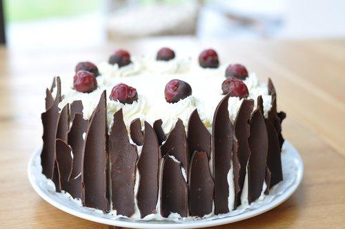 black forest cherry cake  cake  cherry pie