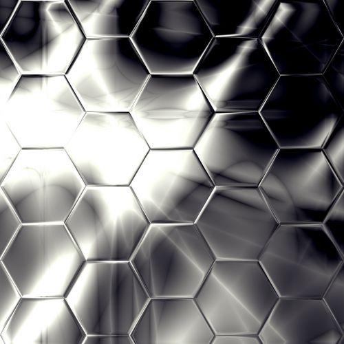Black Hex Pattern