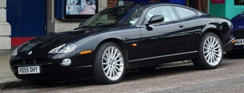 Black Jaguar Sports Car