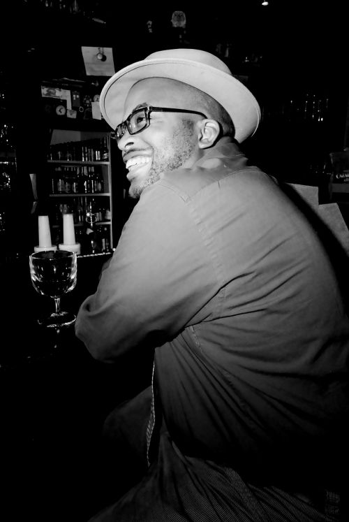 black man drink alcohol