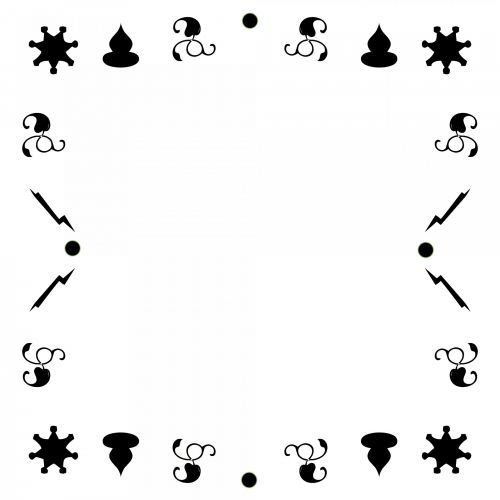 Black Motif Frame