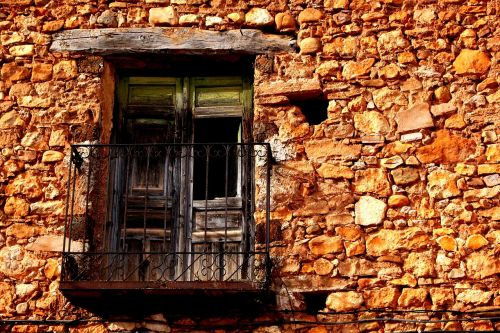 black people balcony house abandoned