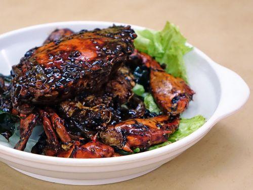 black pepper crab seafood