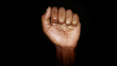 black power black fist fist
