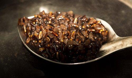 black rice  food  tona organic farm