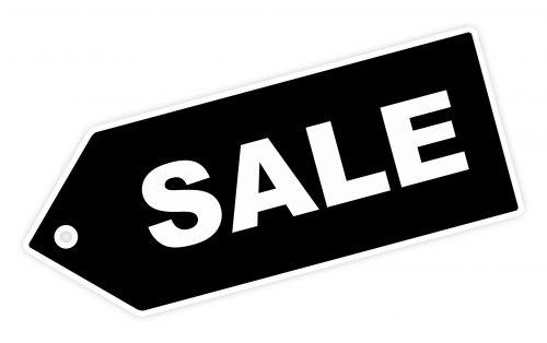 Black Sale Label