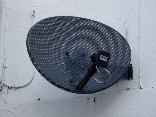 Black Satellite Dish On Building
