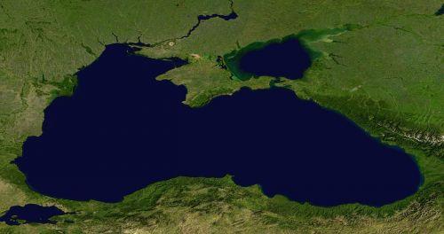 black sea sea aerial view