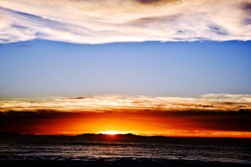 Black Sea Orange Blue Sky