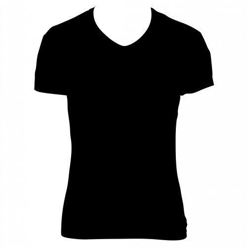 Black T-shirt Clipart