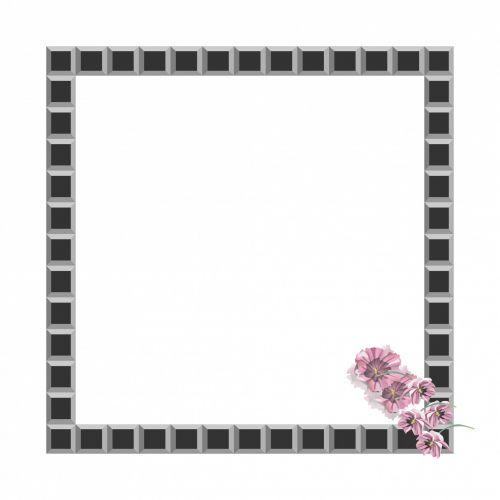 Black Tiles Frame