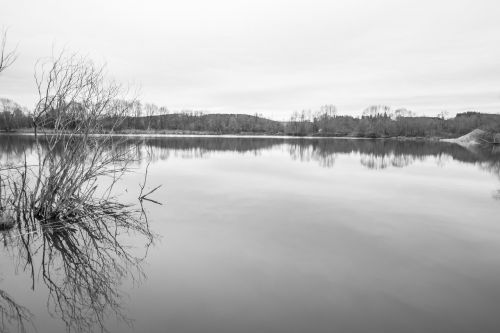 black white monochrome lake