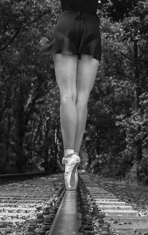 black white  woman  ballet
