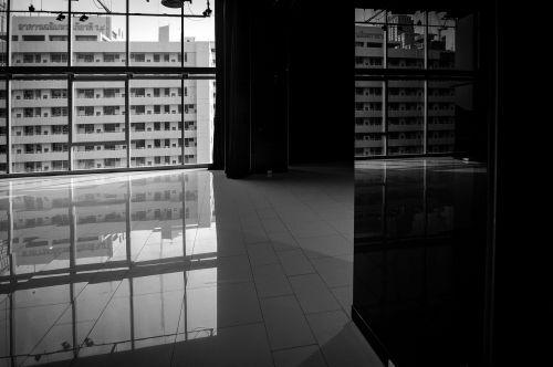 black white building architecture