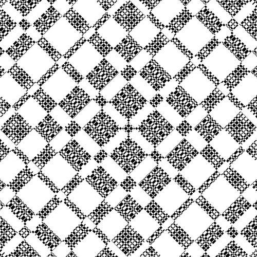 Black White Squares Pattern