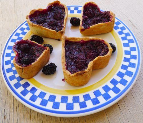 blackberry tarts heart shaped blackberry