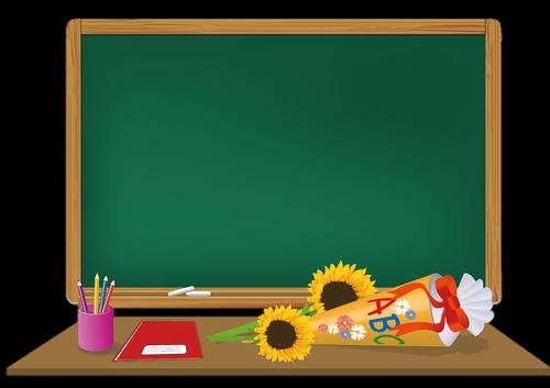 blackboard  schultüte  school enrollment