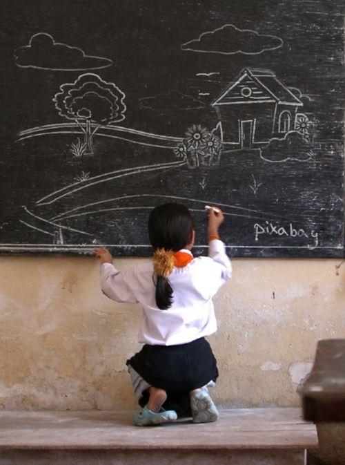blackboard chalkboard chalk