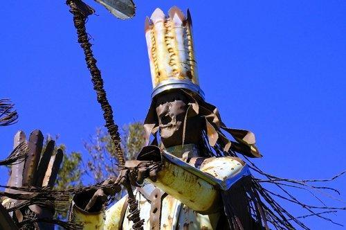 blackfeet warriors sculpture  sculpture  metal