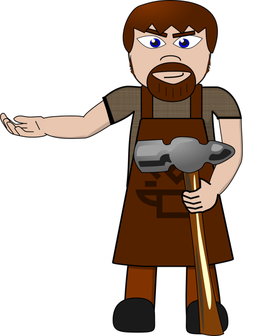 blacksmith man hammer
