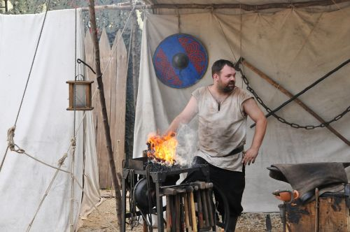 blacksmith medieval market forge