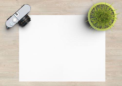 blank empty paper