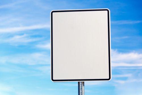 Blank Board And Blue Sky