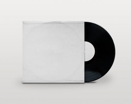blank vinyl record jacket record vinyl