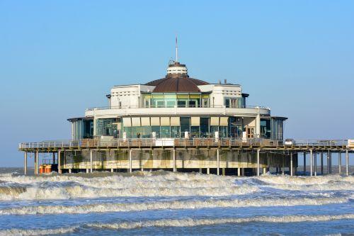 blankenberge sea belgian pier