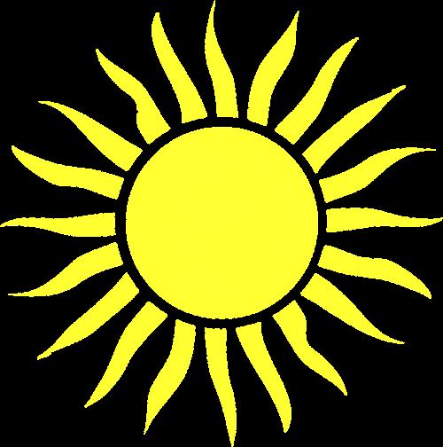 blazing shining sun