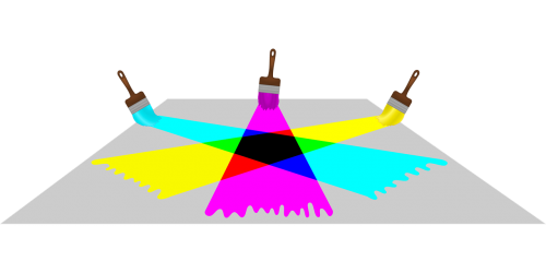 blending cyan magenta
